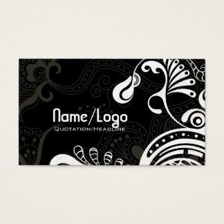 Black & White Retro Phoenix Bird-Template Business Card