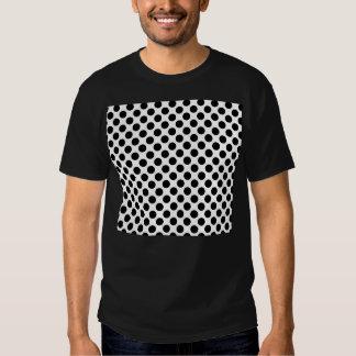Black & White Retro Polka Dots Tshirt