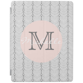 Black & White Retro Print Personalized iPad Cover