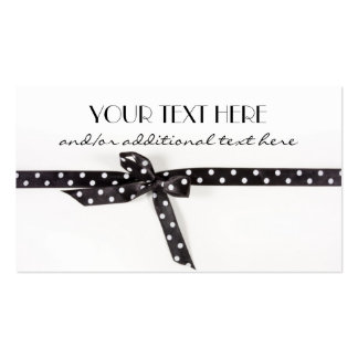 Black & White Ribbon Pack Of Standard Business Cards