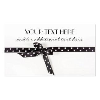 Black White Ribbon Business Card Template