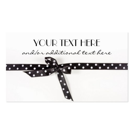 Black & White Ribbon Business Card Template