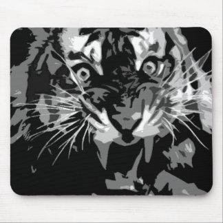Black & White Roaring Tiger Mousepads