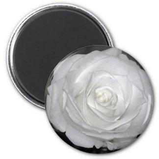 Black & White Rose 6 Cm Round Magnet