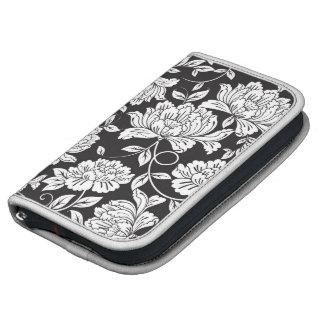 Black  White Rose Floral Smartphone Day Planner