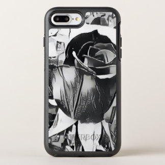 Black & White Rose iPhone 7 Plus Otterbox Case