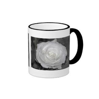 Black & White Rose Ringer Mug
