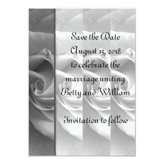 Black & White Rose Save the Date Card #1 - ELLEN 11 Cm X 16 Cm Invitation Card