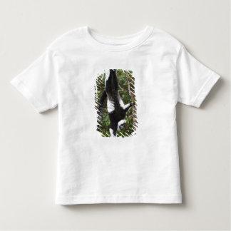 Black & white ruffed lemur hanging up-side-down toddler T-Shirt