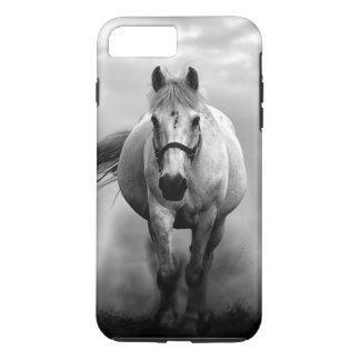 Black White Running Horse Freedom iPhone 7 Plus Case
