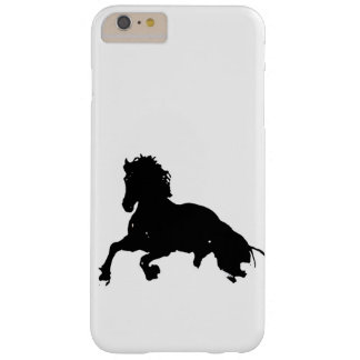 Black White Running Horse Silhouette Barely There iPhone 6 Plus Case