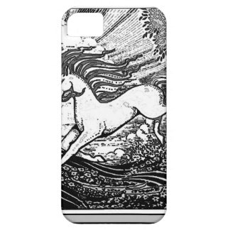 Black & White Running Unicorn Gifts Barely There iPhone 5 Case