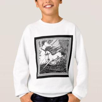 Black & White Running Unicorn Gifts Sweatshirt