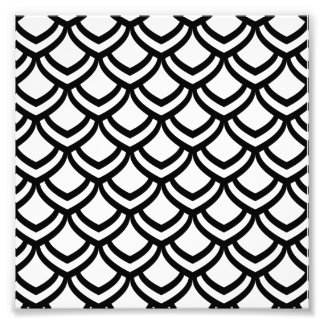 Black & White Scales Pattern Photo Print