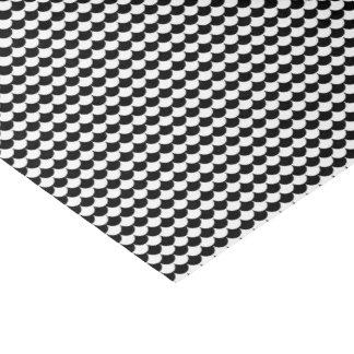 Black White Scales Pattern Tissue Paper
