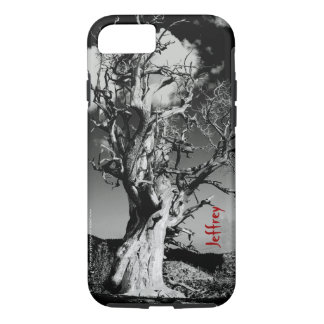 Black & White Scary Tree Fine Art Photo with Name iPhone 7 Case