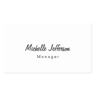 Black & White Script Manager Business Card