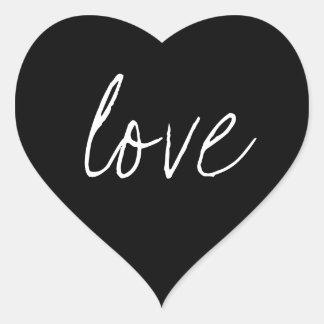 Black White Script Sticker Love