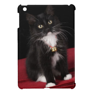 Black & white short-haired kitten,2 1/2 months cover for the iPad mini
