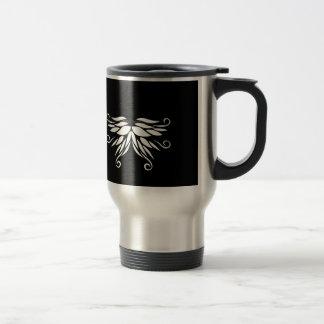 Black white Siberia Nordic ornaments Travel Mug
