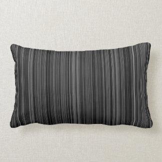 Black white silver grey retro stripe throw pillow