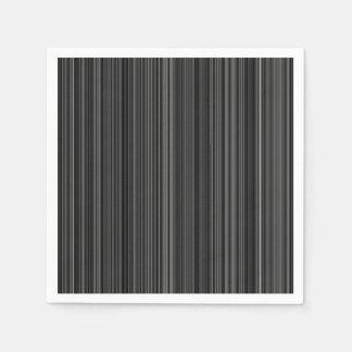 Black white silver grey stripe napkin disposable napkin