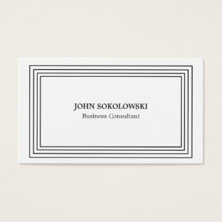 Black & White Simple Professional Business Card
