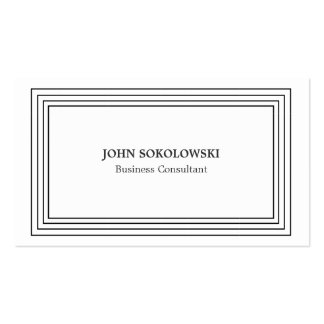 Black & White Simple Professional Pack Of Standard Business Cards