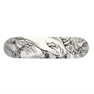 black&White Skate Board Deck