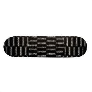 black-white skateboard