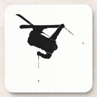 Black & White Skier Coaster