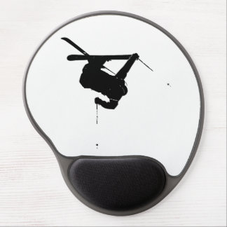 Black & White Skier Gel Mouse Pad