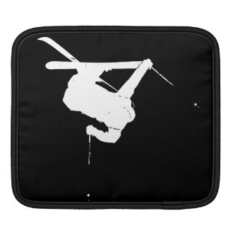 Black & White Skier iPad Sleeves