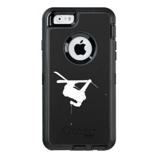 Black & White Skier OtterBox Defender iPhone Case