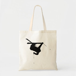 Black & White Skier Tote Bag