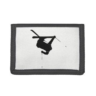 Black & White Skier Trifold Wallet