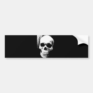 Black & White Skull Bumper Sticker