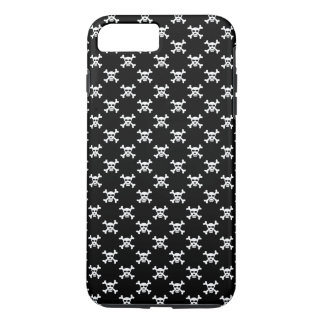 Black White Skull & Crossbones Polka Dots iPhone 7 Plus Case