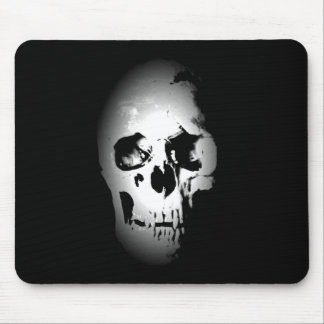 Black & White Skull Mouse Mat