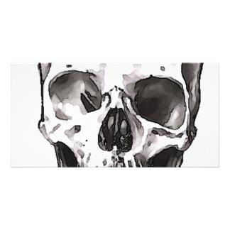 Black & White Skull Personalized Photo Card
