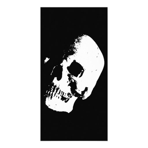 Black & White Skull Photo Card