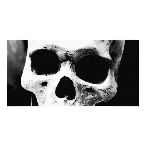 Black & White Skull Custom Photo Card