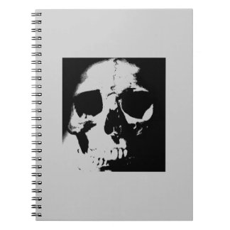 Black & White Skull Spiral Notebooks
