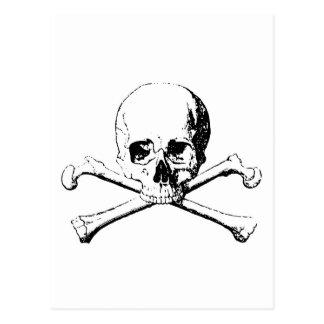 Black & White Skull & the Bones Postcard