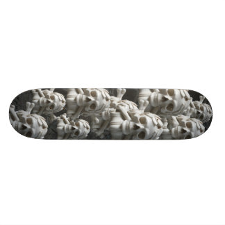 Black White Skulls & Bones Skeleton Skateboard