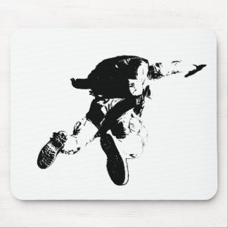 Black & White Skydiving Mouse Pad