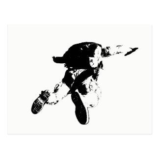 Black & White Skydiving Postcard
