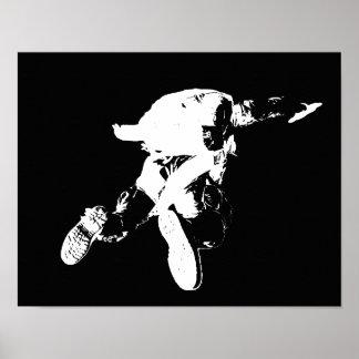 Black & White Skydiving Poster