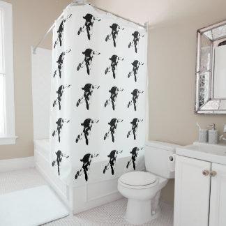 Black & White Skydiving Shower Curtain