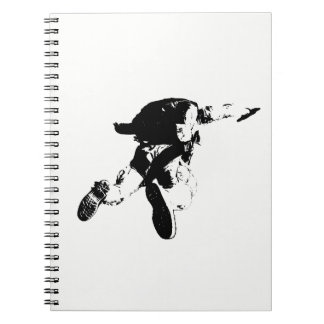 Black & White Skydiving Spiral Notebook